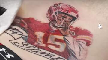 Fast Freddie - Chiefs fan gets tat of Mahomes, calls it 'Champ Stamp