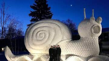 Lee Valsvik - Check out Slinky the Snail Snow Sculpture in New Brighton, Minnesota!