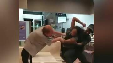 Blind Dog Scott Gilbert - McDonald's Brawl Between Employee And Customer Caught On Video