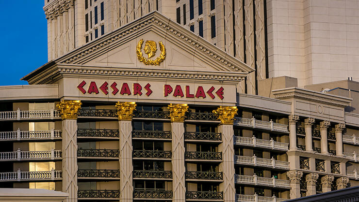 The exterior of Caesars Palace Hotel & Casino