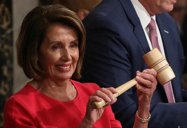 Pelosi receives gavel