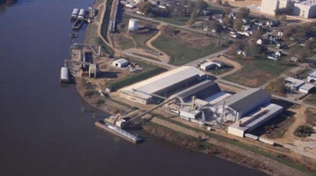 ADM Grain facility in Clinton, Iowa KWQC-TV photo