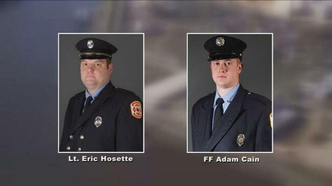 Clinton, Iowa firefighters killed, injured. Photo KCRG-TV