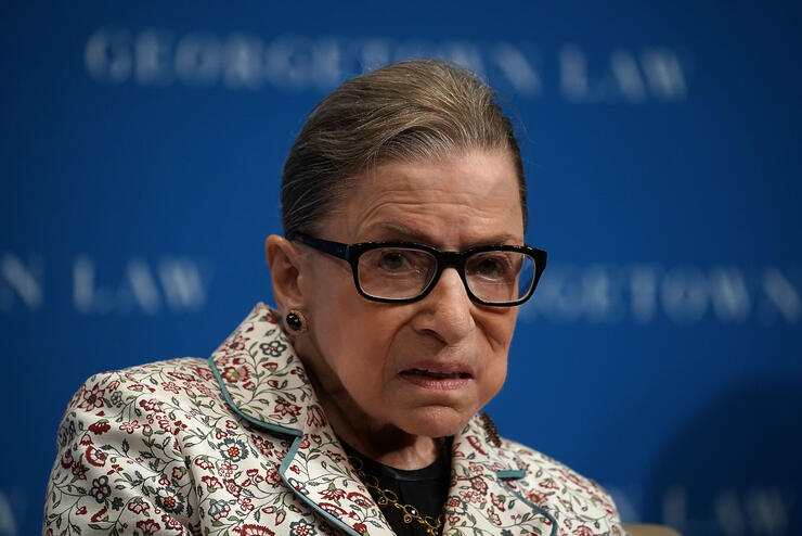 Ruth Bader Ginsburg to miss supreme court arguments for first time