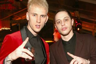Pete Davidson & Machine Gun Kelly Hit The Golden Globes After-Party Circuit