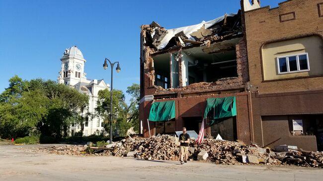 Marshalltown tornado damage. Photo by Gary Barrett WHO Radio News