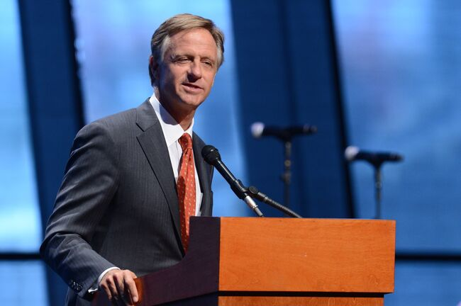 Country Music Hall Of Fame And Museum Grand Opening Celebration NASHVILLE, TN - APRIL 15: Governor Bill Haslam speaks during the grand opening celebration of the Country Music Hall of Fame and Museum on April 15, 2014 in Nashville, Tennessee. (Photo by Jason Davis/Getty Images)
