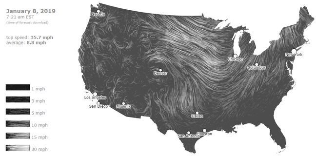 CLICK FOR LIVE National Wind Map