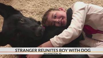 Beth Bradley - Stranger drives 2,300 miles to reunite sick NC boy with his dog.