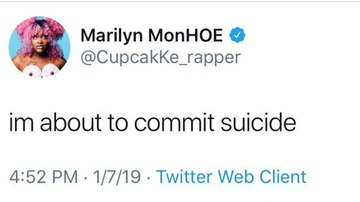 Frankie Robinson - CHICAGO RAPPER CUPCAKKE THREATENS TO COMMIT SUICIDE!