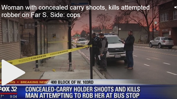 Frankie Robinson - WOMAN WITH CONCEAL CARRY SHOOTS & KILLS MAN WHO TRIED TO ROB HER ON 103RD!!