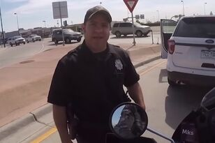 Cop Loses It After Motorcyclist Honks at Him For Using His Phone