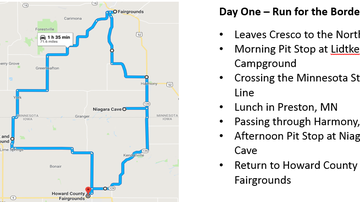 WMT Great Eastern Iowa Tractorcade - Tractorcade 2019 Route Information