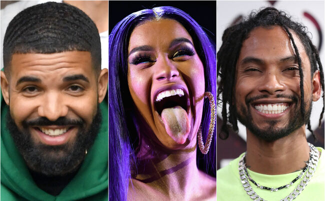 cardi-b-drake-miguel-iheartradio-awards-nominations