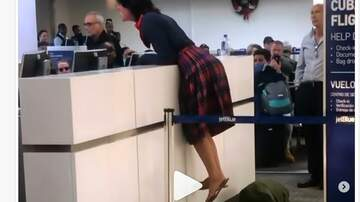 Cindy Scull Mornings - Woman Freaks out at Jet Blue Counter at Ft Lauderdale Airport