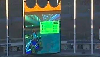 Big Rig - Playing Mario Cart On The Jumbotron At A Kansas City Stadium