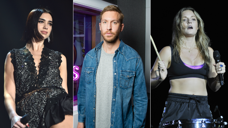 Dua Lipa, Calvin Harris & Tove Lo Spotted In The Studio Together
