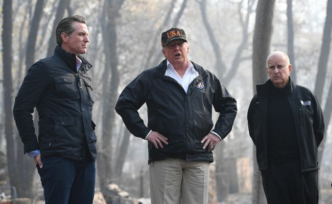 Trump says he will withhold aid from California for wildfires
