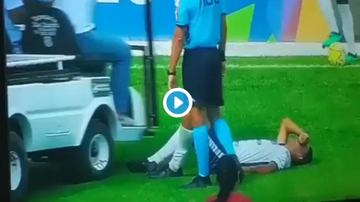 Travis - Injured Soccer Player Gets His Foot Run Over By The Injury Cart
