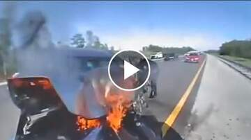 Big Rig - Florida Highway Patrol Officer Lucky To Survive Rear Impact