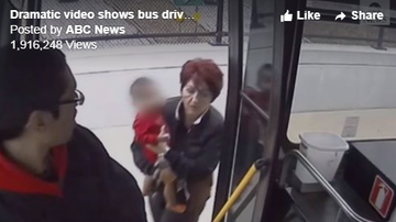 Beth Bradley - Milwaukee bus driver rescued a baby girl wandering  on a freeway overpass