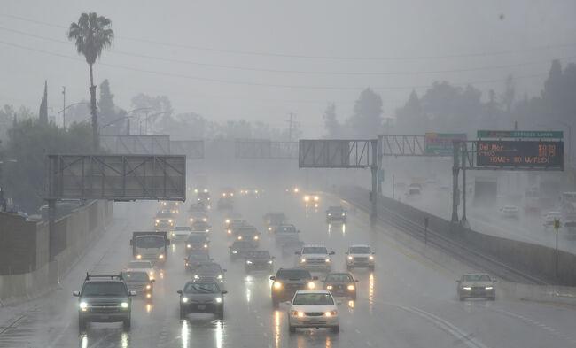 Los Angeles Rain coming