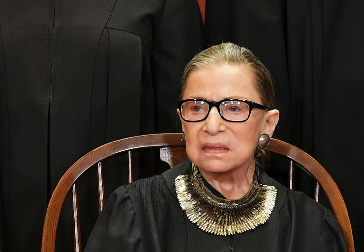 "Justice Ruth Bader Ginsburg's recovery from cancer surgery is ""on track,"""