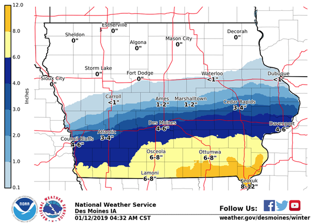 Winter Advisory extended for much of Iowa SNOW MAP | 1040 WHO on