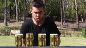 What's On Tap Radio - Man Chugs 4 Beers in 12 Seconds
