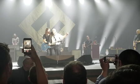 Rock News - Drunk Fan Crashes Foo Fighters Set, Almost Destroys Drum Kit: Watch