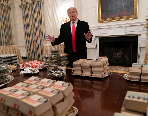 Trump and burgers