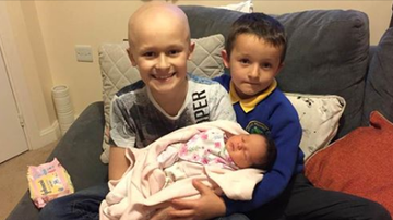 Beth Bradley - Boy lives to meet newborn baby sister before dying of cancer