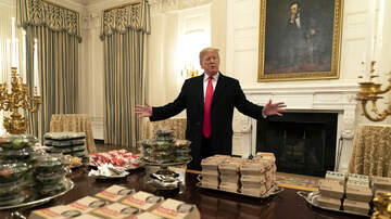 Cappuchino - President Serves Clemson Tigers Team Burgers and Pizza