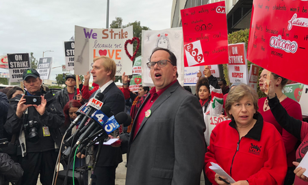 National News - First Day of L.A. Teachers' Strike Cost School District $15 Million
