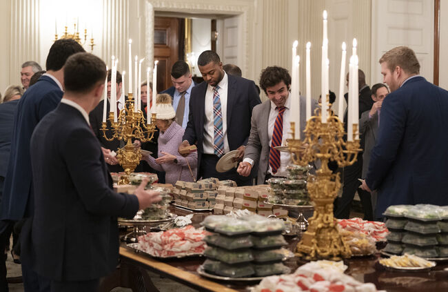 Clemson football team dining at White House