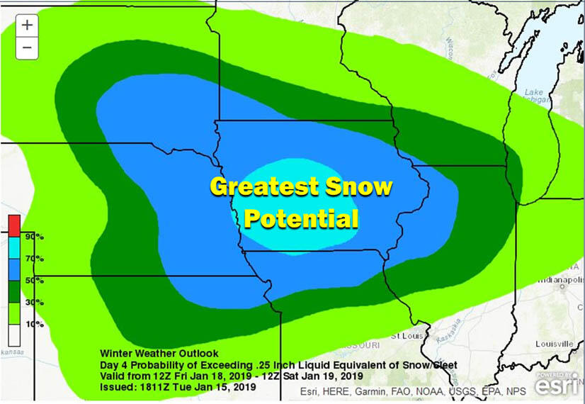 More snow coming and Iowa is the bulls-eye SNOW MAP