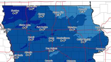 WOC Local News - New forecast spreads snow across Iowa SNOW MAP