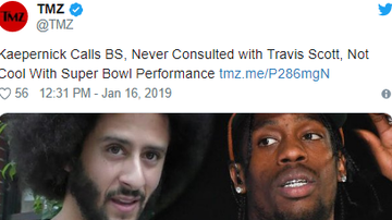 Jess Live - Colin Kaepernick Calls out Travis Scott