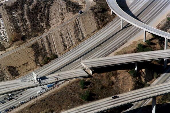 Northridge earthquake freeways 1994 Getty Images