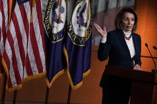 """Pelosi - """"I'm not for a wall. I'm not for a wall. I'm not for a wall."""""""