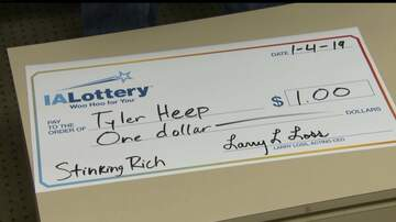 Scott and Sadie - A Guy Got a Giant Check After a $1 Lottery Win