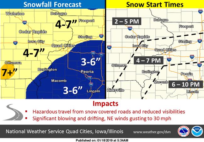 Quad Cities Snow Emergency Info Qc Snow Map Woc 1420