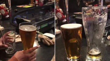 Big Mad Morning Show - Guy Shows that Large and Small Beer are the same size!