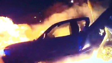 Chuck Dizzle - Police Pull Woman Out Of Burning Truck After Being Hit By Drunk Driver