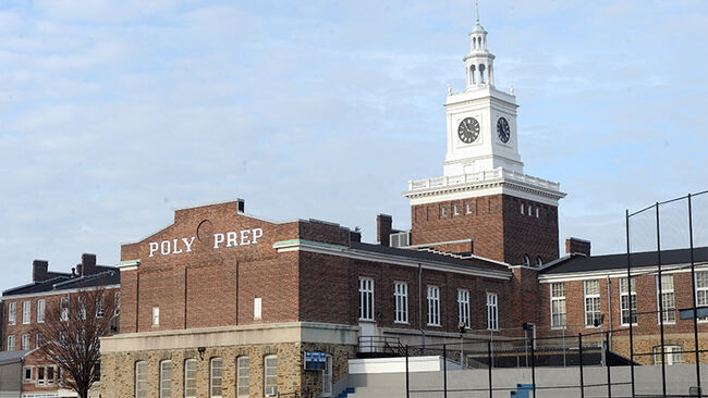 Poly Prep Country Day School at 9216 Seventh Ave., Brooklyn and its famed clock tower