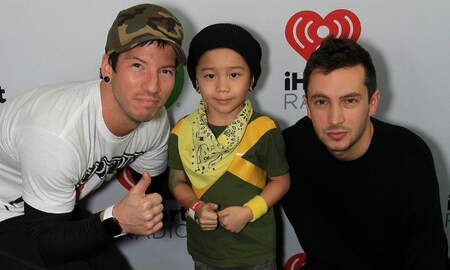 Trending - twenty one pilots Meet Adorable Josh Dun Mini-Me at iHeartRadio ALTer EGO