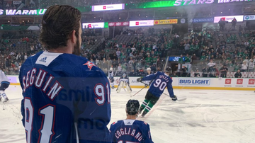 Jeff K - Texas Rangers Good Luck Charms In Dallas Stars Win