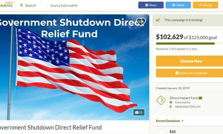 National News - GoFundMe Sets Up Donation Page For Federal Workers Affected By the Shutdown