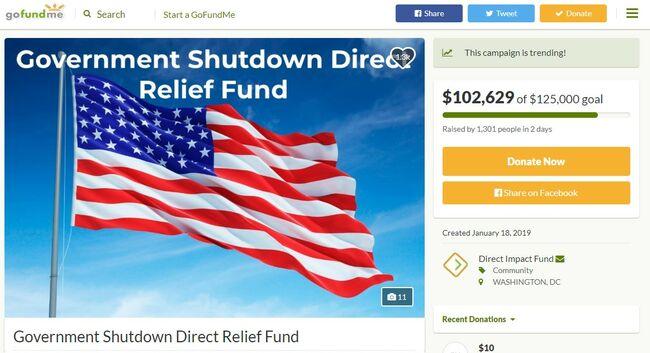 Government Shutdown Direct Relief Fund
