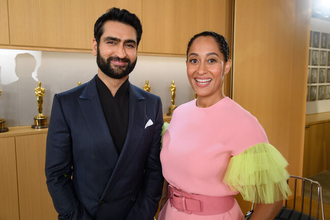 Kumail Nanjiani (left) and Tracee Ellis Ross announce the nominees for the 91st Annual Academy Awards in Beverly Hills, on Tuesday, January 22, 2019. CREDIT: Todd Wawrychuk / ©A.M.P.A.S.